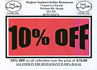 10% off takeaway orders over £10